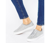 Kendrick Graue Jersey-Sneaker mit abgesetztem Schaft Grau