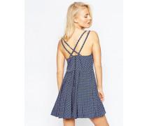 Sommerkleid mit doppelten Trägern Blau