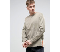 Co Simon Pullover im Cut-and-Sew-Stil Grün