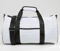 Zylinderförmige Reisetasche Weiß