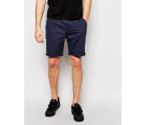 Schlichte Chino-Shorts Marineblau