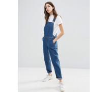 Jeans-Latzhose in Stonewash-Blau Blau