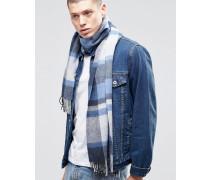 Blauer Schal aus Schafwolle Blau