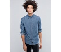 Rude Blaues Jeanshemd Blau