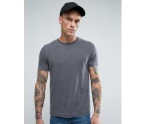 Brooklyn Supply Co Ausbrenner-T-Shirt mit Rundhalsausschnitt Schwarz