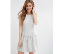 Ditto Kleid mit Schößchen Grau