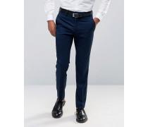 Elegante, schmal geschnittene Hose Marineblau