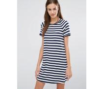 T-Shirt-Kleid mit Streifen Mehrfarbig