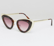 Retro Cat Eye Sunglasses Braun