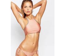 Luv AJ The Demi Chain Kurzes Bikinioberteil Rosa