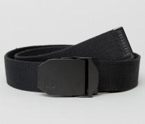 Solid Webbing Belt in Black Schwarz