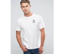 Franklin and Marshall T-Shirt mit Schriftzug und Logo Weiß