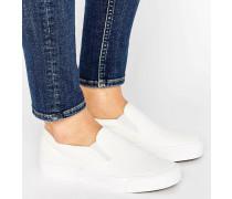 Basic-Sneakers aus Leinen zum Hineinschlüpfen Weiß