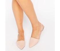LAINEY Spitze Ballerinas mit Knöchelriemchen Beige
