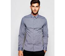 Schlichtes Oxford-Hemd Schwarz