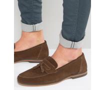 Loafer aus braunem Wildleder Braun
