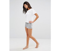 Kirmington Weiche Fleece-Shorts Grau