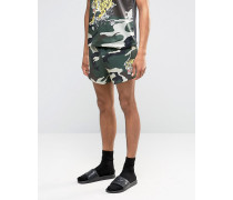 Souvenir Shorts in Camouflage Grün
