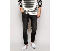 Jeans Formende Röhrenjeans mit hohem Stretchanteil in Grey Moon Grau