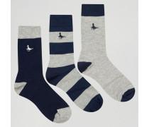 Socken im 3er-Set Mehrfarbig
