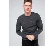 Barmby Slub-Sweatshirt mit kleinem Logo Grau