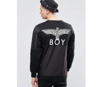 Sweatshirt mit Adlermotiv Schwarz