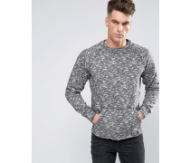 Meliertes Sweatshirt Braun