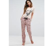 Pyjama-Hose mit Karomuster Mehrfarbig
