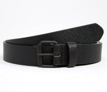 Schwarz strukturierter Gürtel Schwarz