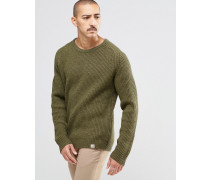 Gerippter Pullover Grün