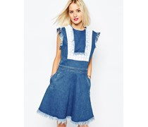Jeanskleid mit Latz Blau