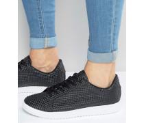 Schwarze Sneaker zum Schnüren Schwarz