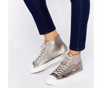 Coaster Hohe Metallic-Sneaker Kupfer