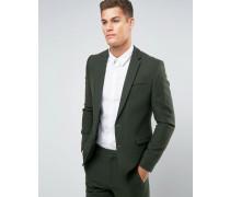 Schmal geschnittene Anzugjacke in Khaki aus 100% Wolle Grün