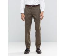 Heritage Braun karierte Anzughose aus hochwertiger Woll- und Kaschmirmischung Braun