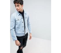 Vorgewaschene Jeansjacke Blau