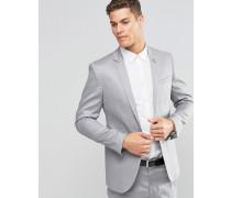 Enge Anzugjacke aus einer Leinenmischung Grau