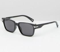 Komar Eckige Sonnenbrille in Schwarz Schwarz
