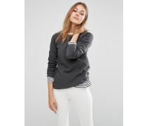 Legeres Sweatshirt mit Rundhalsausschnitt aus Bio-Baumwolle Grau