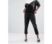 Jeans mit geradem Beinschnitt Schwarz