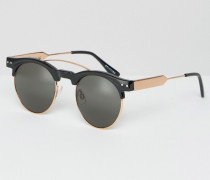 Retro-Sonnenbrille Schwarz