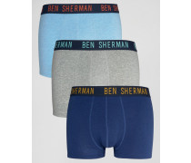 Boxershorts in Jeans-Optik, 3er-Pack Marineblau