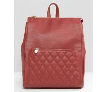 Rucksack mit gesteppter Tasche Rot