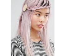 Haarclip mit Plättchendesign Gold