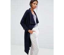 Closet Zweireihig geknöpfte Jacke mit Gürtel Blau