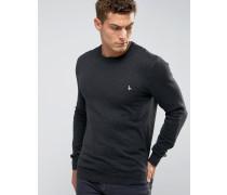 Pullover mit Rundhalsausschnitt, in Anthrazit Grau