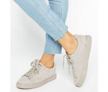 Sneaker in Wildlederoptik Grau