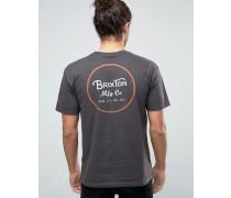 Wheeler T-Shirt mit Logo-Print hinten Schwarz