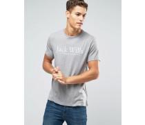 """T-Shirt mit """"""""-Aufschrift in Kalkgrau Grau"""