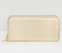 Hochglänzende Brieftasche Silber